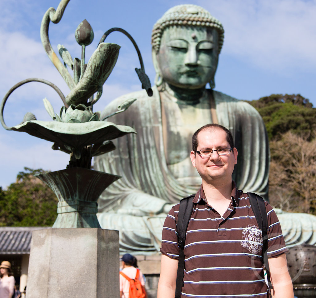 The big Buddha and myself