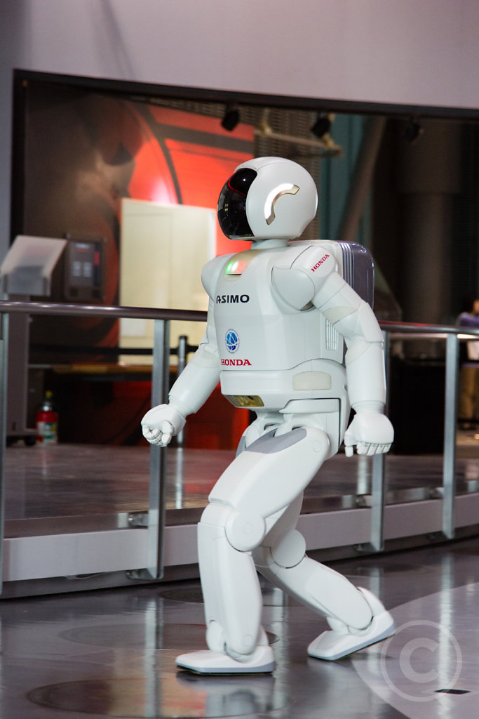 Asimo walks around