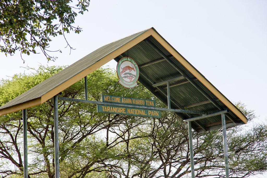 Entering the Tarangire National Park