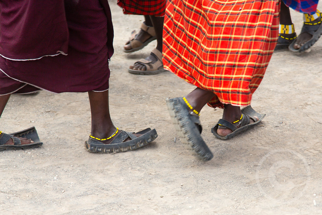 Shoes made from car tires
