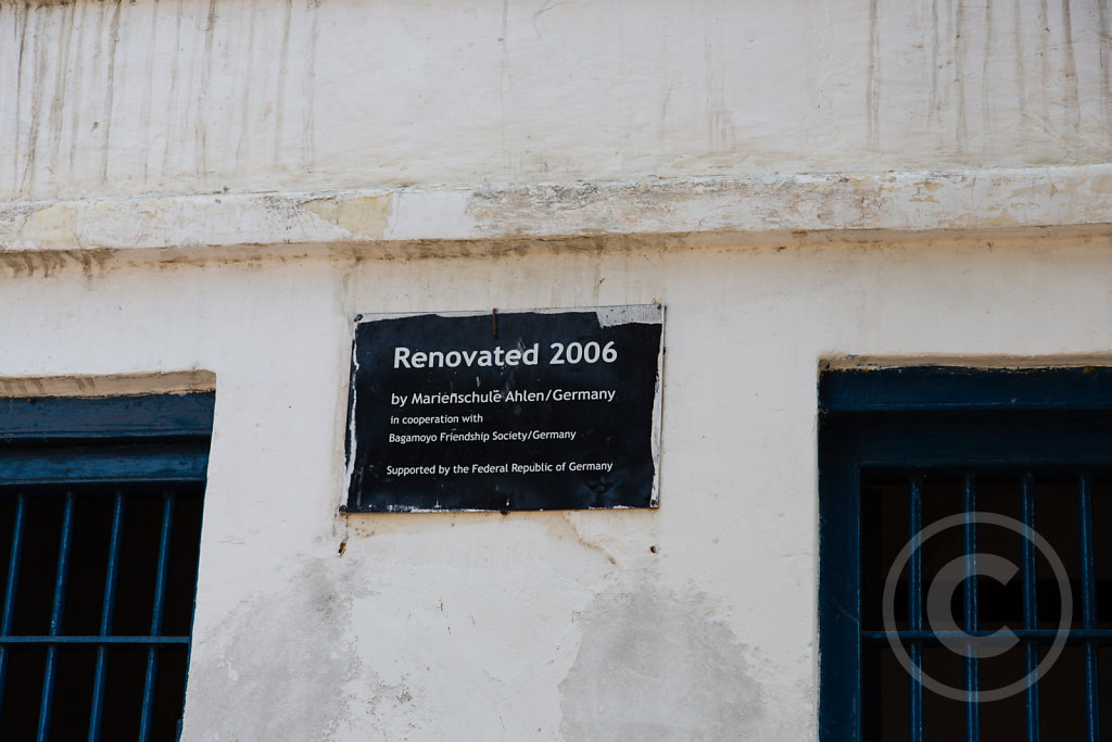 Sign in Bagamoyo